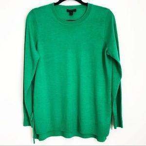 J.Crew Side Slit Sweater with Ties Merino Wool